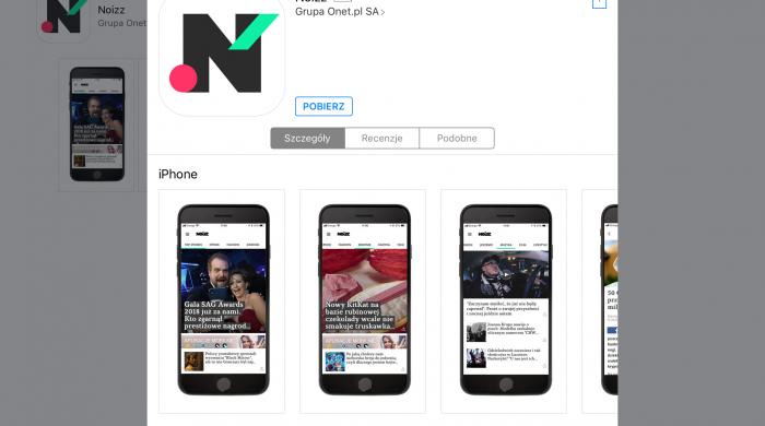 Grupa Onet z aplikacją mobilną Noizz