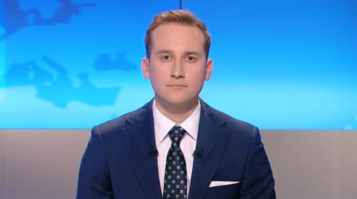 """Łukasz Dubaniewicz zadebiutował w roli prezentera """"Informacji"""" Polsat News"""