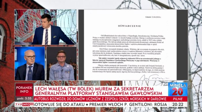 """Wałęsa zapowiada pozew przeciwko TVP Info. """"Żenujący poziom stacji, przesycony tanią propagandą"""""""