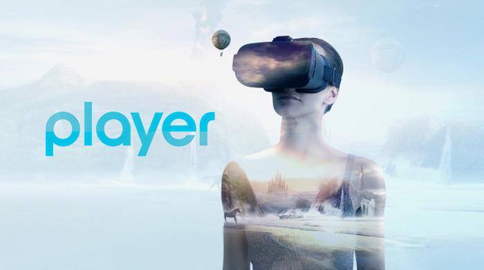 Player z biblioteką materiałów w technologii VR