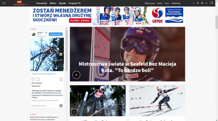 Ruszył odświeżony portal TVP Sport