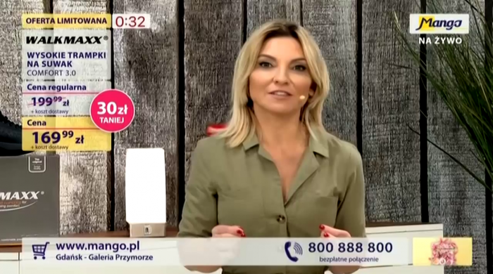 """Marzena Sienkiewicz prowadzącą """"Mango na żywo"""""""