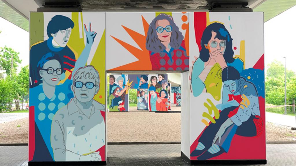 Wizualizacja muralu Kobiety wolności