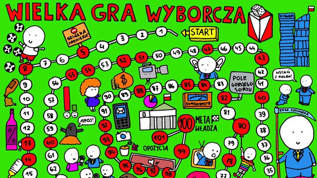 """""""Wyborcza na środek lata"""" z polityczną grą planszową w sobotę z """"Gazetą Wyborczą"""""""