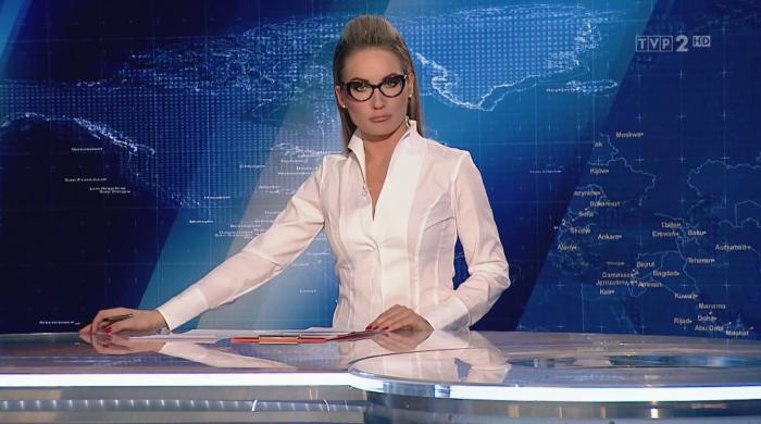 Zuzanna Falzmann prowadzącą Panoramę TVP 2