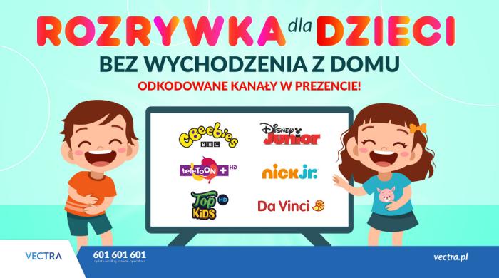 Sieć kablowa Vectra odkodowała sześć kanałów z programami dla dzieci