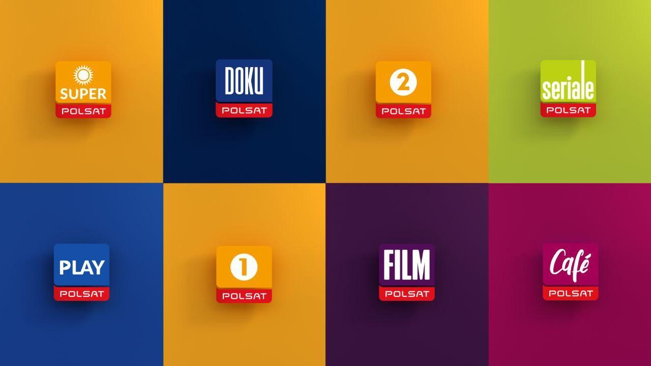 Kanały tematyczne Telewizji Polsat z nowymi logotypami oraz oprawą antenową