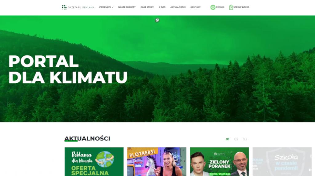 Strona internetowa Reklama Gazeta.pl