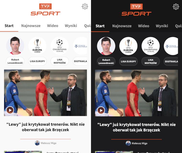 Aplikacja TVP Sport