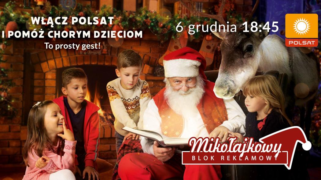 Siedemnasta edycja Mikołajkowego Bloku Reklamowego 6 grudnia w Polsacie