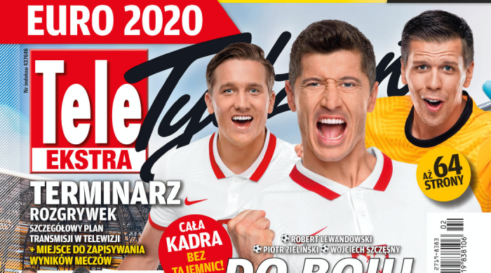Terminarz i szczegółowy plan transmisji EURO 2020 w specjalnym wydaniu gazety Tele Tydzień