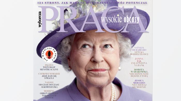 Wysokie Obcasy Praca z królową Elżbietą II na okładce