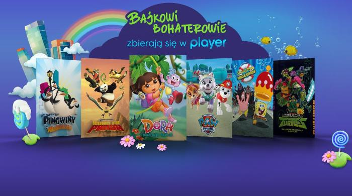 """""""SpongeBob Kanciastoporty"""", """"Psi patrol"""" i inne bajki w ofercie Player.pl"""