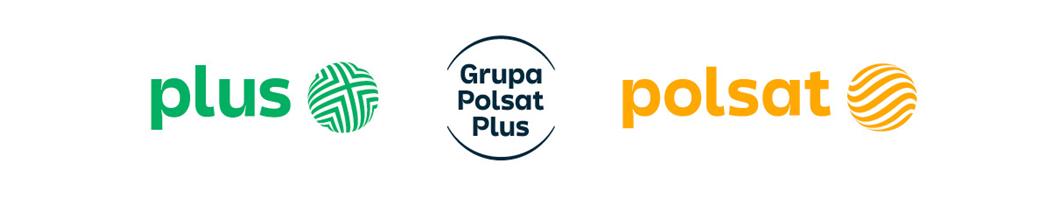 Logotypu Polsat i Plus