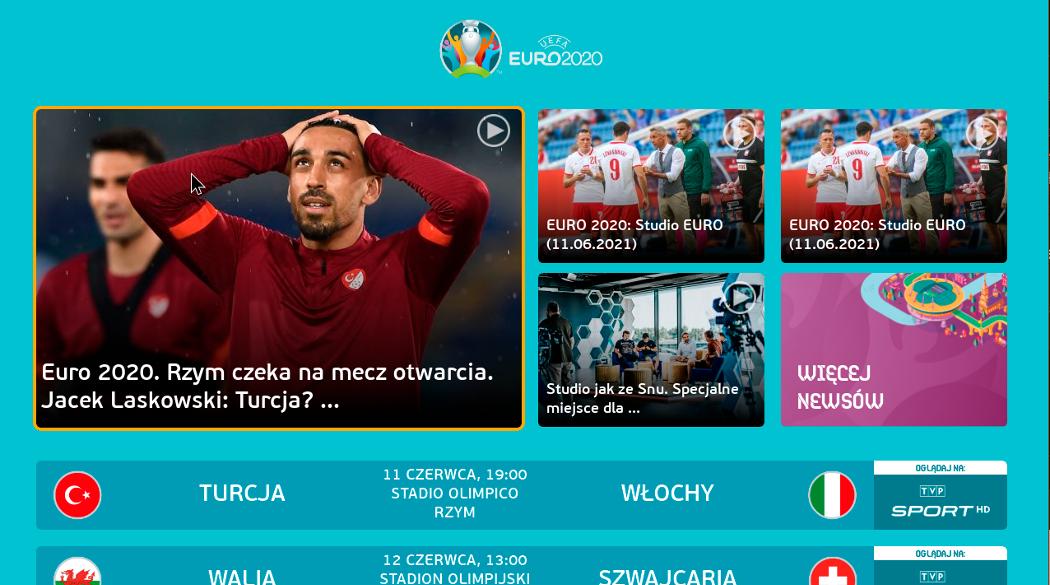 Euro 2020 - HbbTV w TVP