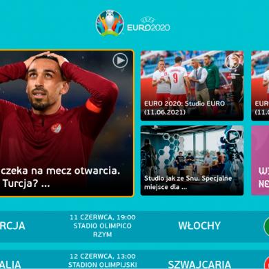 TVP Sport z aplikacją na Smart TV. Specjalny serwis o EURO 2020 w HbbTV