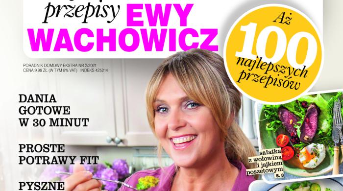 """Książka kucharska """"Przepisy Ewy Wachowicz"""" w sprzedaży"""