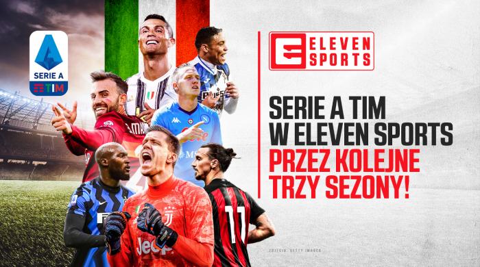 Włoska liga Serie A TIM przez 3 kolejne sezony w Eleven Sports na wyłączność