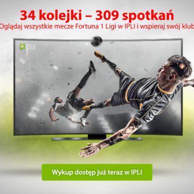 Wszystkie mecze Fortuna 1 Ligi w serwisach Grupy Polsat Plus. Specjalny pakiet w Polsat Box GO