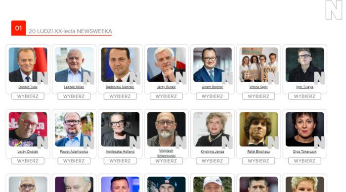 Rusza plebiscyt z okazji 20-lecia Newsweeka