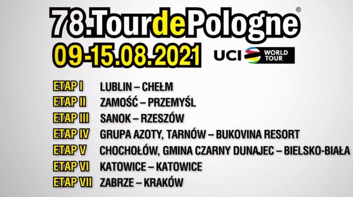 Startuje Tour de Pologne 2021. Transmisje na antenach TVP i w Polsat Sport