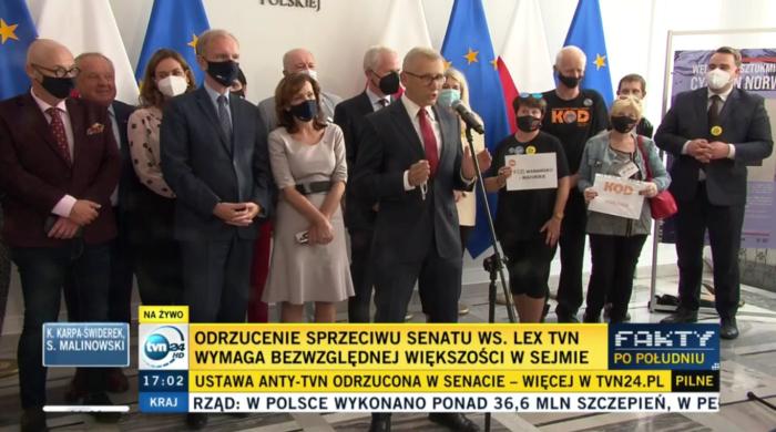 Senat odrzucił ustawę Lex-TVN
